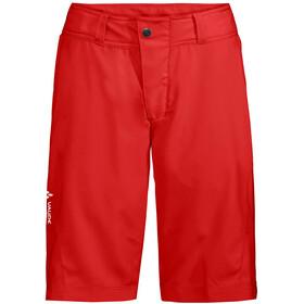 VAUDE Ledro Pantalones cortos Mujer, mars red